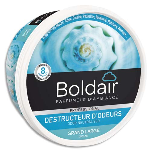Code 777358, Désignation: BOLDAIR Pot 300g Gel destructeur d'odeurs parfum grand large